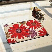 carpet Anti-Rutsch-Schnitt Blumen-Eingangshalle Eingangstür Wohnzimmer Eingangstür Matratze Matratze Teppich Mat Mat Bettmatten ( Farbe : B8 )