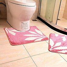 Carpet Bad Tür in die Tür Matten U - Fuß - Pad WC Fuß Wasser absorbierende Matte Matratzen Non-slip water absorption ( farbe : D )