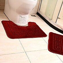 Carpet Bad Tür in die Tür Matten U - Fuß - Pad WC Fuß Wasser absorbierende Matte Matratzen Non-slip water absorption ( farbe : P )