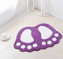 Carpet Badezimmer-Tür-Matten-Badezimmer Schlafzimmer Wohnzimmer Mat Bad Flur Tür Anti - Skid Pad Cartoon Mats Non-slip water absorption ( farbe : 3 , größe : 48*37cm )