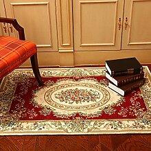 carpet computer - polster teppich schlafzimmer mit decke den europäisch - amerikanischen wohnzimmerteppich coffee bay window mbei 90 × 140 cm Bettmatten ( Farbe : Pink )