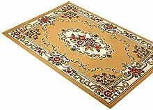carpet Continental Schlafzimmer Wohnzimmer Couchtisch Teppich gewebt Kamel (80 * 118cm Bettvorleger Sofatisch zu Hause Teppich) Haushaltsteppichmatten Teppichmatten Haushalts weichen Teppich-Fußmatten Tuch weichen Tuch Teppich-Fußmatten Bettmatten