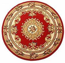 carpet Europäische Stil Tür Teppich Wohnzimmer Couchtisch mit Schlafzimmer Bettdecke Hand geschnitzten Computer Stuhl runden Teppich Bettmatten ( Farbe : A2 , größe : 1.5 m round )
