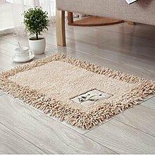carpet Fußbodenmatratze Matratze Schlafzimmer Nachttisch Teppich Wohnzimmer Hall Matte Ottomans Badezimmer Badezimmer Wasser Anti - Rutsch Bettmatten ( farbe : A , größe : 60*90cm )
