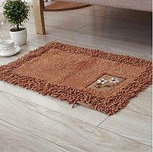 carpet Fußbodenmatratze Matratze Schlafzimmer Nachttisch Teppich Wohnzimmer Hall Matte Ottomans Badezimmer Badezimmer Wasser Anti - Rutsch Bettmatten ( farbe : C , größe : 50*80cm )