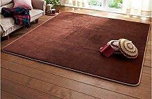 carpet Kreative Persönlichkeit Wohnzimmer mit modernen braunen Flanell Trend Teppich Wohnzimmer Schlafzimmer Teppich Bettmatten ( größe : 0.8*2.0m )