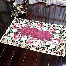 carpet Maschine waschbar Badezimmer Badezimmer Schlafzimmer Teppich Matratzen Matratzen rutschfeste Matten Teppiche Home Eingang Matten Bettmatten ( Farbe : C , größe : 60*90cm )