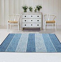 carpet Maschine waschbar Teppich Teppich Wohnzimmer Couchtisch modernen minimalistischen Schlafzimmer Nacht Decke Teppich weich faltbar Bettmatten ( Farbe : Blue Stripe )