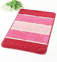 carpet Matratze-Teppich-rutschfeste Badezimmer-Matten-große Tür-Matten-Bad-Matten-Grün Bettmatten ( Farbe : Rot , größe : 40*60cm )
