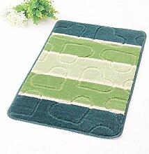 carpet Matratze-Teppich-rutschfeste Badezimmer-Matten-große Tür-Matten-Bad-Matten-Grün Bettmatten ( Farbe : Grün , größe : 50*80cm )