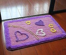 Carpet Matte / saugfähige Tür Mat / Bad Mat Non-slip water absorption ( größe : 45*70cm )