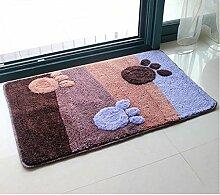 Carpet Matte / saugfähige Tür Mat / Bad Mat Non-slip water absorption ( größe : 50*80cm )