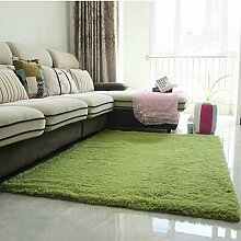 carpet Modern verdickt Seiden Teppich Wohnzimmer Couchtisch Sofa Bett Schlafzimmer Teppich Teppich Shop für Teppich (Farbe: Grasgrün) Bettmatten ( größe : #6 )
