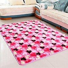 carpet Modernes einfaches Wohnzimmer Schlafzimmer Couchtisch Voller Boden Teppich Sofa Bett Anti-Rutsch Absorbent Teppich Bettmatten ( Farbe : A , größe : 140*200CM )