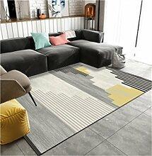 Carpet Non Slip Teppich für Wohnen/Bett Zimmer/Sofa Polyester Square Foot/Fußmatten Absorbent Schnell Trocknende Pad Anpassbare (Color : A, Pattern : 160×230CM)