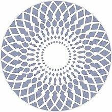 carpet Nordic einfache Mode geometrische Teppiche Wohnzimmer Schlafzimmer Schlafsäcke Studie Computer Stuhl runden waschbaren Teppich Bettmatten ( Farbe : B2 , größe : Diameter 160CM )