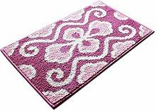 carpet Plain elegantes Schlafzimmer Bettvorleger Haushaltsteppichmatten Teppichmatten Haushalts weichen Teppich-Fußmatten Tuch weichen Tuch Teppich-Fußmatten Bettmatten