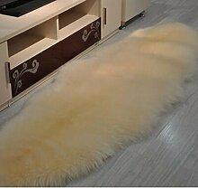 carpet Reines Wollsofa-Kissen Das gesamte Schaffell-Wolle-Teppich-Kissen-schwimmende Fenster-Auflage-Wohnzimmer-Raum-Decken kann besonders angefertigt werden Bettmatten ( Farbe : A4 , größe : 170*75CM )
