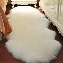 carpet Reines Wollsofa-Kissen Das gesamte Schaffell-Wolle-Teppich-Kissen-schwimmende Fenster-Auflage-Wohnzimmer-Raum-Decken kann besonders angefertigt werden Bettmatten ( Farbe : A3 , größe : 100*75CM )