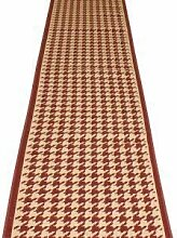Carpet Runners UK Hahnentritt rot–Hall,