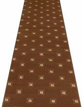 Carpet Runners UK Quadratisch Braun–Hall,