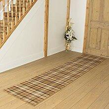 Carpet Runners UK Tartan Gold–Hall, Treppe
