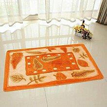 carpet Schlafzimmer Teppich Nachttisch Fuß Pad Bettmatten ( Farbe : A3 , größe : 76*130cm )
