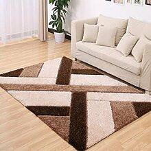carpet Teppich, einfaches Wohnzimmer Couchtisch Teppich, Schlafzimmer voll von rechteckigen Teppich, Zimmer Bedside Blanket Bettmatten ( Farbe : B , größe : 120×170CM )