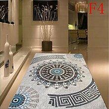 carpet Teppich kann gewaschen werden Einfache Moderne Stil Wohnzimmer Schlafzimmer Teppich Grün Tasteless Verschlüsselung Verdickung Bettmatten ( Farbe : A4 , größe : 133*190cm )