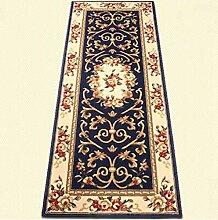 carpet Teppich, langer Teppich, europäisches Wohnzimmer Küche Haus Gang Korridor Teppich, Schlafzimmer Bedside rechteckige Matte Bettmatten ( Farbe : B , größe : 80*250c )