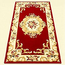 carpet Teppich, langer Teppich, europäisches Wohnzimmer Küche Haus Gang Korridor Teppich, Schlafzimmer Bedside rechteckige Matte Bettmatten ( Farbe : B , größe : 120*170 )