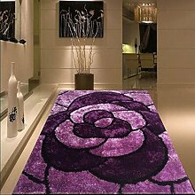 carpet Teppich, verschlüsselt Bright Silk Muster Teppich, Wohnzimmer Couchtisch Teppich, Schlafzimmer Bedside Carpet Bettmatten ( Farbe : A1 , größe : 120cmx170cm )