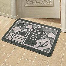 Carpet Türmatten Fußmatte Tür Eingangsmatten Bad Toilettentür reiben Anti-Rutsch-Pad Schlafzimmer Betmatte Non-slip water absorption ( farbe : 5# , größe : 78cmx113cm )