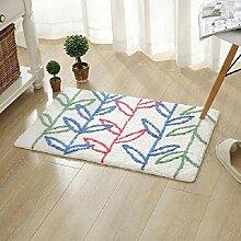 carpet Wasser Einlass Türmatten Wohnzimmer Schlafzimmer Home Teppich Matten Küche Badezimmer Non - Slip Matten Bettmatten ( Farbe : A1 , größe : 45*70cm )