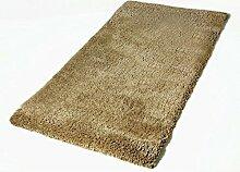 carpet Weiches modernen minimalistischen Stil Wohnzimmer Schlafzimmer Kinderzimmer Sofatisch Fenster und langhaarigen Teppich-Fußmatten Bettmatten ( farbe : Beige , größe : 70*140 )