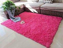 carpet Wohnzimmer Couchtisch Teppich, Teppich, Schlafzimmer Vollbett Edge Decke, Zimmer Teppich, Haushalt Teppiche Bettmatten ( Farbe : Rot , größe : 140×200CM )