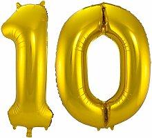 Carpeta - Folienballon * Zahl 10 * ┃ Gold ┃