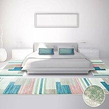 carpetcity Bettumrandung für Schlafzimmer, Flachflor in Pastellfarben mit Modernen Design, Geometrisches Muster, 3-teilig: Läufer 2 x 80x150 cm, 1 x 80x300 cm