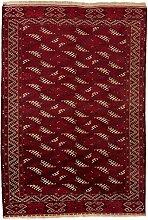CarpetFine: Afghan Mauri Teppich 226x312 Rot -