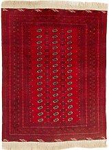 CarpetFine: Afghan Teppich 148x192 Rot -