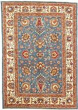 Carpetfine: Aryana Teppich 170x245 - Blau - Handgeknüpft - Pakistan - Rechteck