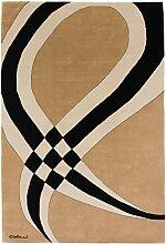 Carpetfine: Colani Teppich 200x300 - Beige,Braun - Handgeknüpft - Nepal - Rechteck