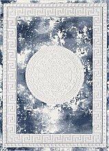 CarpetFine: Farahi Teppich 80x300 cm Blau -
