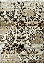 Carpetfine: Florid Teppich Beige 120x170 cm - Polypropylen - Maschinengewebt - Ornamen