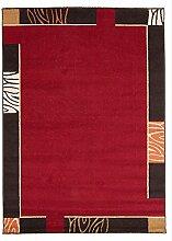 Carpetfine: Frisco Teppich 160x230 - Braun,Rot - Maschinell geknüpft - Belgien - Rechteck