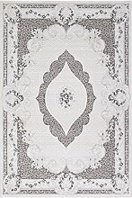 Carpetfine: Galpino Grau 160x230 cm Teppich Grau 160x230 cm - Acryl - Maschinell geknüpft - Ornamen