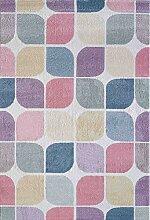 CarpetFine: Geo Teppich 120x170 cm Multicolor -