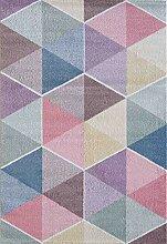 CarpetFine: Geo Teppich 80x150 cm Multicolor -