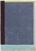 Carpetfine: Handtuft Teppich 170x240 - Blau -