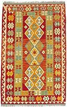 CarpetFine: Kelim Afghan Teppich 122x194